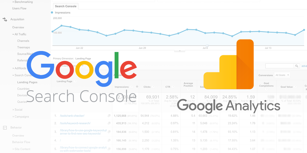Google Analytics & Webmaster tools